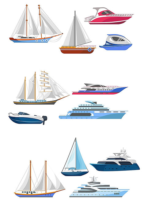 12 Stand Up Edible Wafer Paper Yachts Boats Toppers