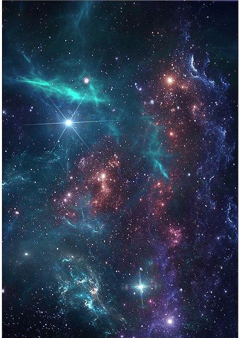Galaxy Space Wallpaper Decor Icing Sheet