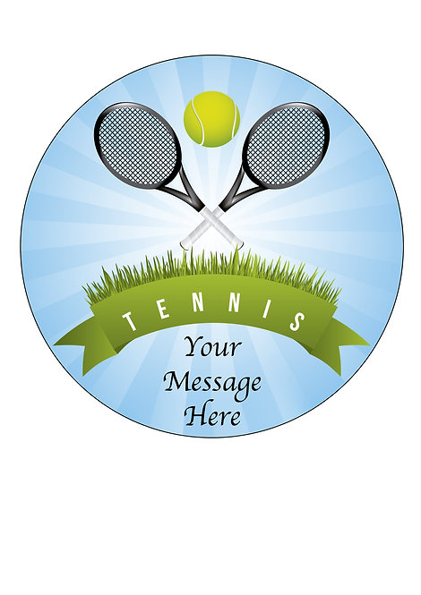 Tennis Sport PERSONALISED MESSAGE 7.5 Inch Circle Decoration