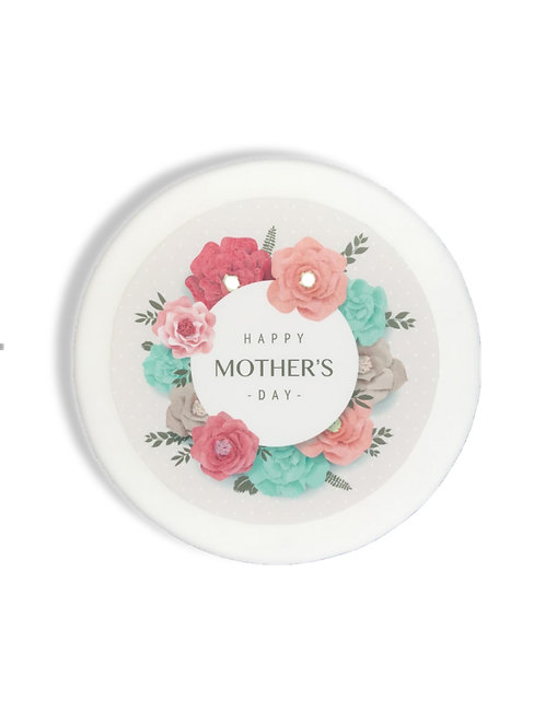 Happy Mother's Day 7.5 Inch Circle Decor Icing Sheet