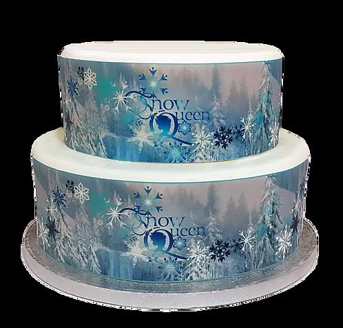 Frozen snowflake Snow Queen Borders Decor Icing Sheet Cake Decoration