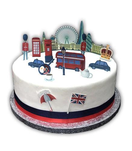 City of London Cake Scene Edible Wafer Paper Cake Topper