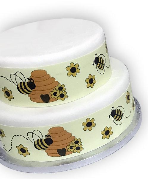 Bumble Bee Honey Pot Borders Decor Icing Sheet Cake Decoration