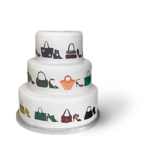 Shoes and Bags Borders Decor Icing Sheet