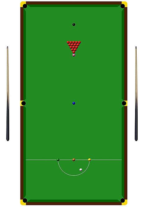 1 x A4 Snooker Table Wallpaper Decor Icing Sheet