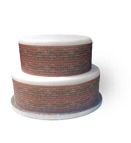 Brick effect Border Decor Icing Sheet Cake Decoration