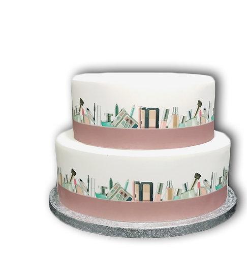 Make Up Cosmetics Border Decor Icing Sheet Cake Decoration