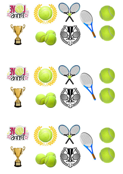 27 Stand Up Edible Wafer Paper Tennis Toppers