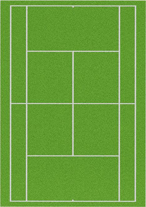 1 x A4 Tennis Court Wallpaper Decor Icing Sheet
