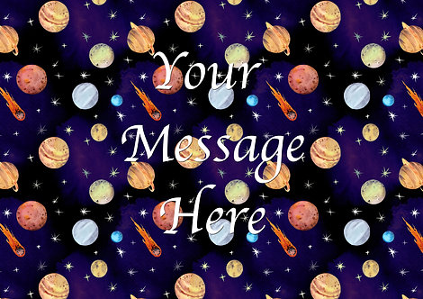 A4 Wallpaper Planets and Stars PERSONALISED MESSAGE Decor Icing Sheet