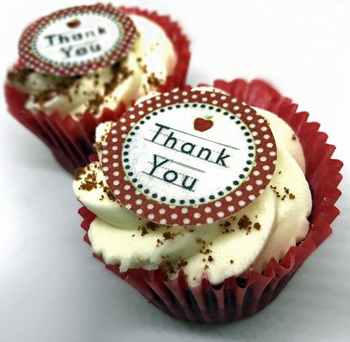 24 Thank You Pre-Cut Thin Edible Wafer Paper