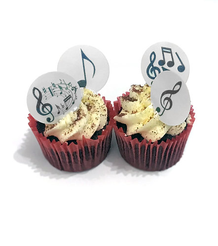 24 Music Notes Pre-Cut Thin Edible Wafer Paper