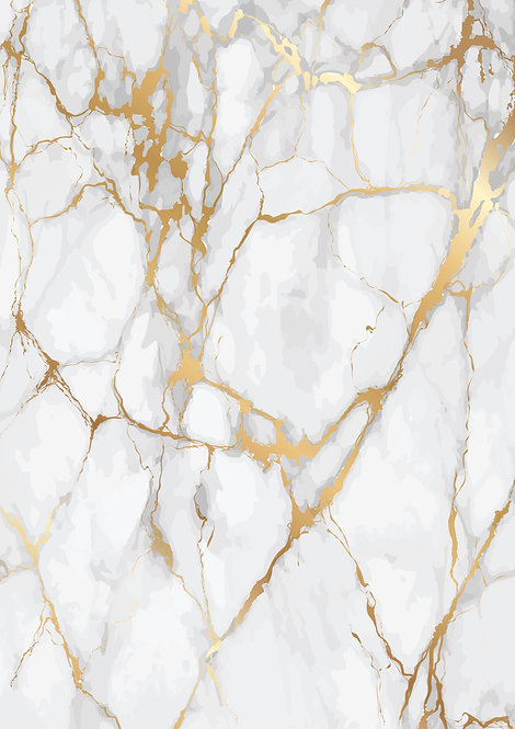 White and Gold Marble Design Wallpaper Decor Icing Sheet