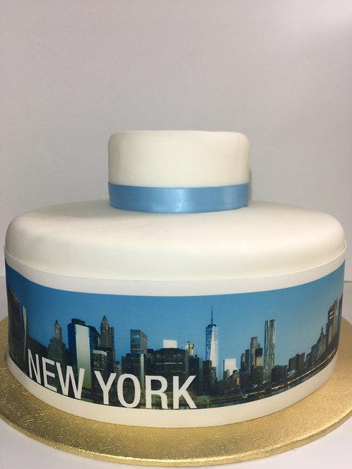New York City Skyline Borders Decor Icing Sheet