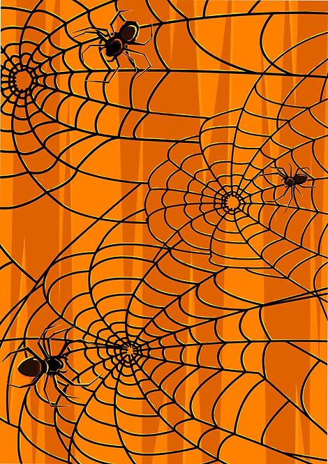 1 x A4 Halloween Spider Web Wallpaper Decor Icing Sheet