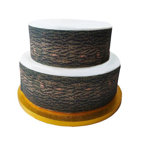 Tree Bark Effect Border Decor Icing Sheet Cake Decoration