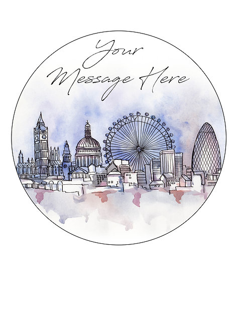 London City PERSONALISED MESSAGE 7.5 Inch Circle Decoration Topper