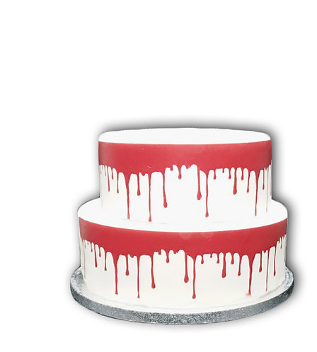 Red Blood Drip Borders Decor Icing Sheet Cake Decoration