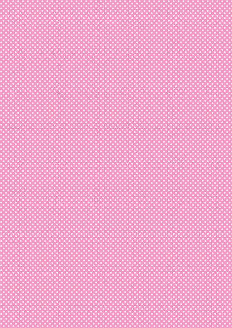 1 x A4 Pink Polka Dot Wallpaper Decor Icing Sheet