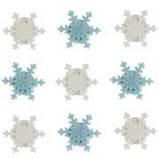 Blue & White Snowflakes Edible Sugarcraft Icing