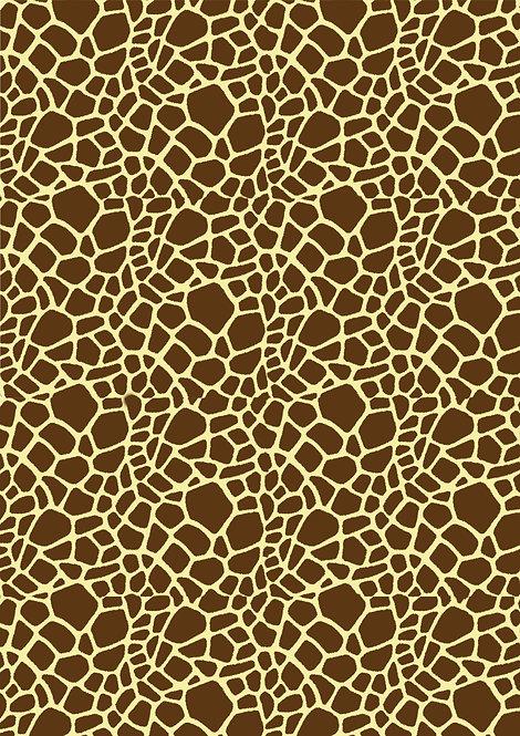1 x A4 Giraffe Print Wallpaper Decor Icing Sheet