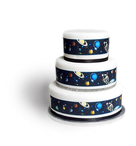 Outer Space Borders Decor Icing Sheet