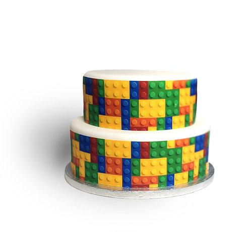 Colourful Block Bricks Borders Decor Icing Sheet
