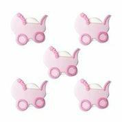 Pink Girl Baby Pram Edible Sugarcraft Icing