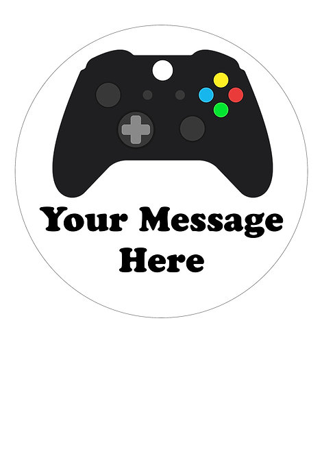 X Box Controller PERSONALISED MESSAGE 7.5 Inch Circle Decoration