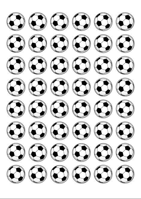 48 Football 2.5cm Edible Wafer Toppers