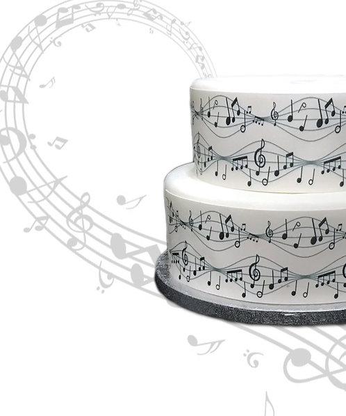 Musical Music Notes  Border Decor Icing Sheet Cake Decoration