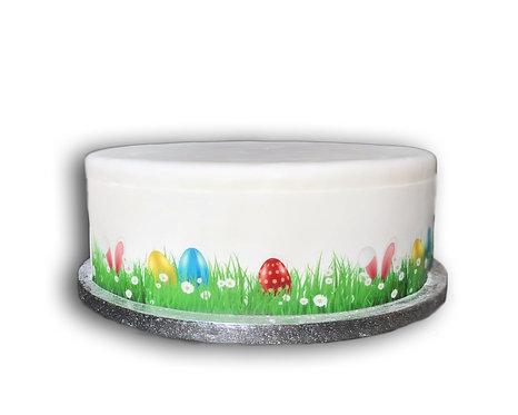Easter Eggs Bunny Ears Borders Decor Icing Sheet