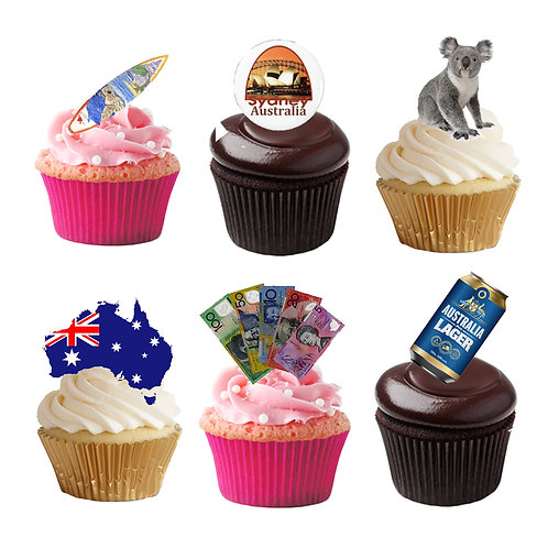 33 Stand Up Edible Wafer Paper Australia Toppers