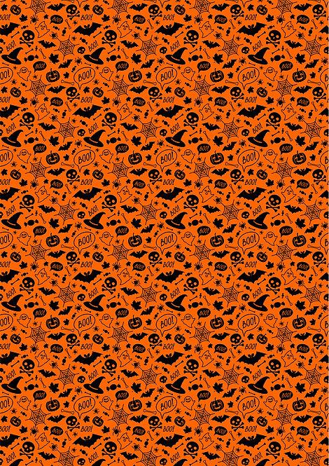 Black and Orange Halloween Wallpaper Decor Icing Sheet