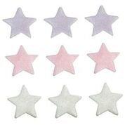 Lilac, Pink & White Stars Edible Sugarcraft Icing