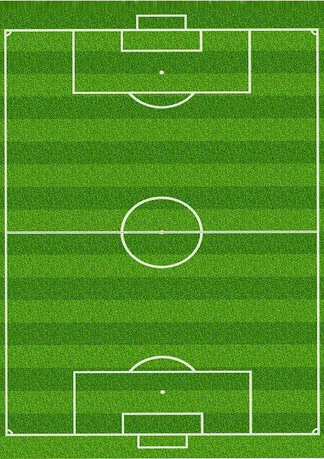 1 x A4 Football Pitch Wallpaper Decor Icing Sheet