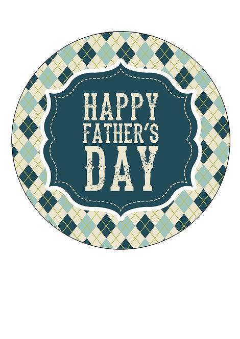 Happy Fathers day 7.5 Inch Circle Decor Icing Sheet