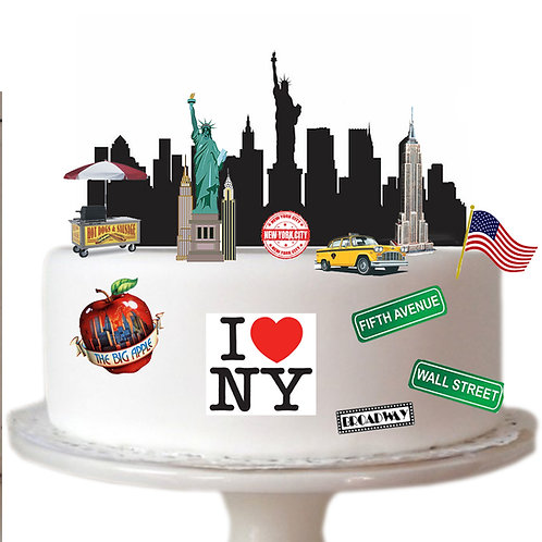 New York City Scene Made From Edible Wafer Paper