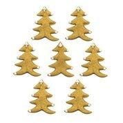 Shimmering Gold Christmas Trees Edible Sugarcraft Icing