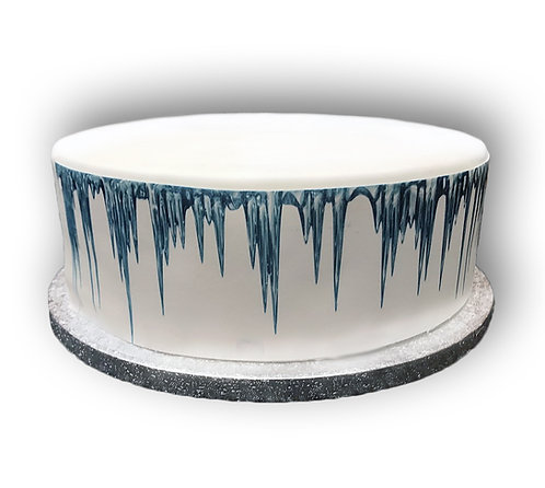 Frozen Icicle Borders Decor Icing Sheet