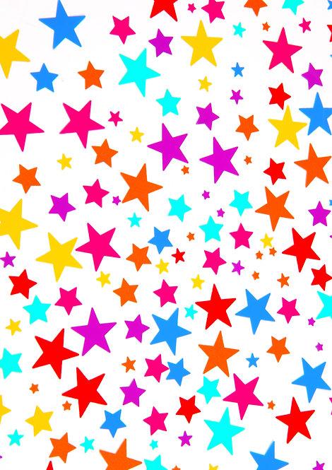 A4 Colourful Stars Wallpaper Decor Icing Sheet