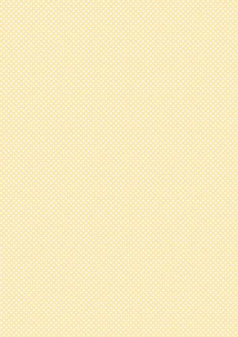 1 x A4 Yellow Polka Dot Wallpaper Decor Icing Sheet