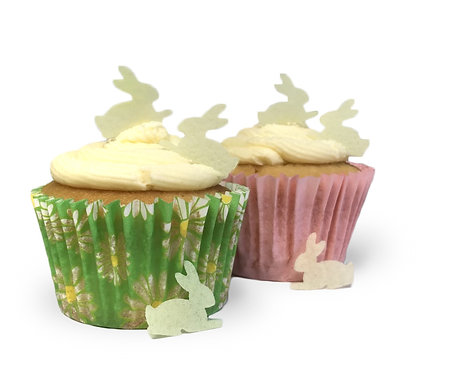 100 Pre-Cut Yellow Easter Bunnies Edible Wafer Paper