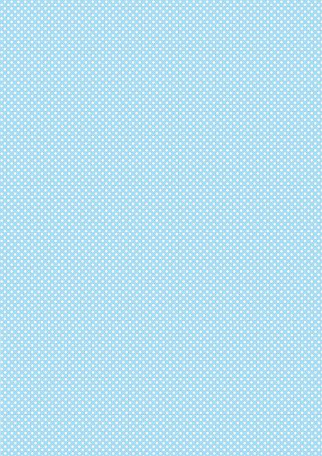 1 x A4 Blue Polka Dot Wallpaper Decor Icing Sheet