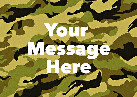 A4 Wallpaper Camouflage PERSONALISED MESSAGE Decor Icing Sheet
