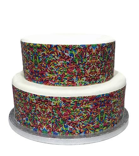 Cake Sprinkles Hundreds & Thousands Effect Border Decor Icing Cake Decoration
