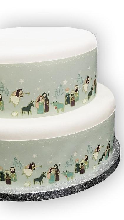 Christmas Nativity Borders Decor Icing Sheet Cake Decoration
