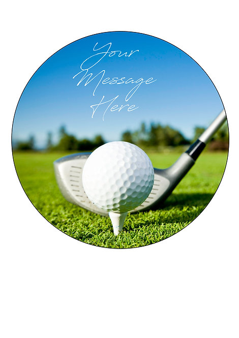 Golf Sport PERSONALISED MESSAGE 7.5 Inch Circle Decoration