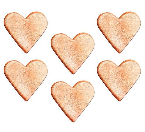 Rose Gold Hearts Edible Sugarcraft Icing