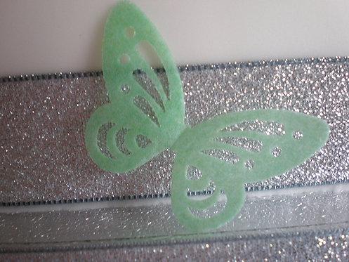 24 Pre-Cut Skeleton GREEN Butterflies Thin Edible Wafer Paper